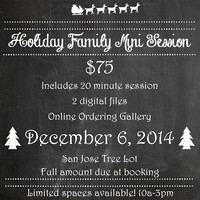 2014 HOLIDAY MINI SESSION CLICK ON THE BUY BUTTON TO SELECT YOUR SESSION TIME